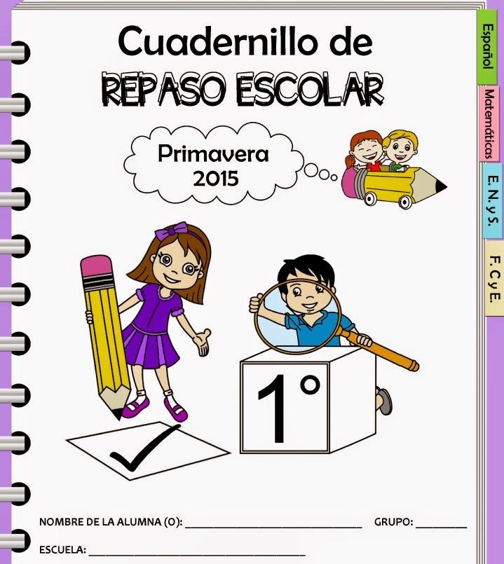 cuadernillo de repaso primavera 2015 primer grado | Material Primaria