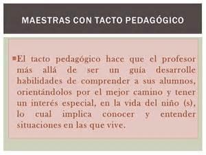 tacto pedagogico