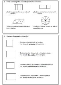 Ejercicios de fracciones para cuarto y quinto grado de for Cuarto y quinto metatarsiano