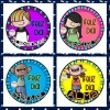 Stickers con nombres para el dia del niño