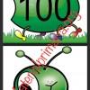 Fabuloso gusano para armar numeros  del 10 en 10 hasta el 100