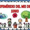 Fabuloso diseño de las efemérides del mes de junio a color