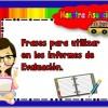 Frases a utilizar en los informes de evaluación