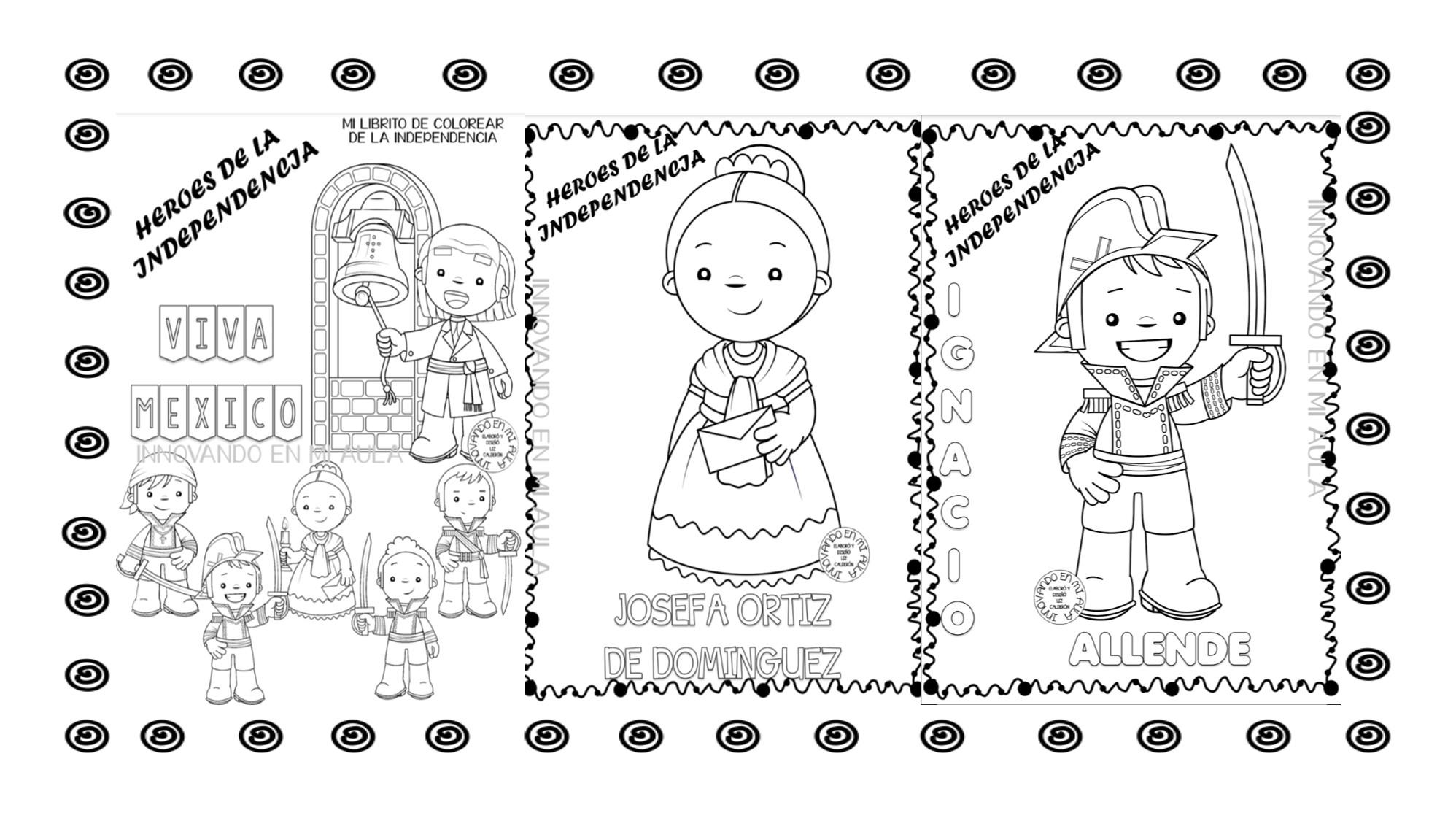 Fantástico Mini Libro Para Colorear Los Personajes De La